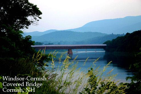 Windsor-Cornish Covered Bridge, Cornish NH Dartmouth Lake Sunapee region New Hampshire
