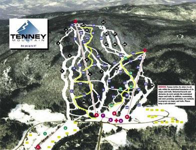 tenney mountain ski map