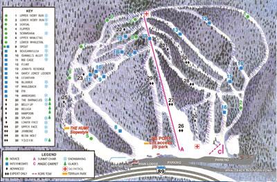 whaleback ski map