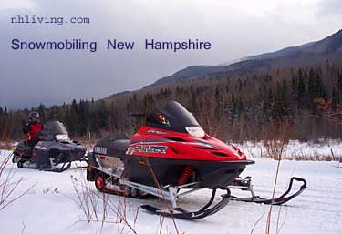 white mountains nh snowmobiling