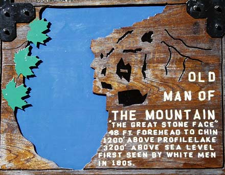 Nh Old Man Of The Mountain State Of New Hampshire Old Man Of The