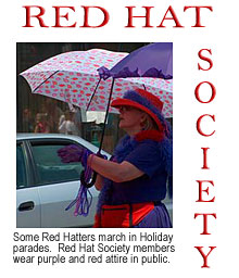 Red Hat Society, Parades, Restaurants, Inns, Meetings, Womens Club