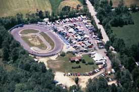 Sugar Hill Speedway, Weare NH, Merrimack Valley Region, Sprint Racing, Sprint Car Racing, Aerial View of Sugar Hill Speedway