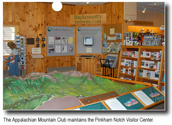Backcountry Information at the Pinkham Notch Visitor Center by the AMC Appalachian Mountain Club
